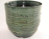 cascade-style, textured bonsai pot