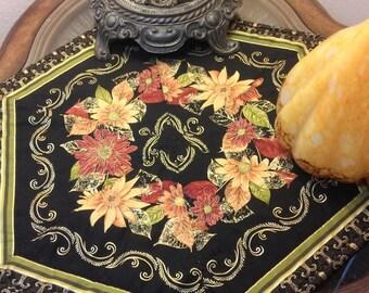 Candle Mat/Fall Decor/Fall leaves