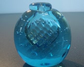 Blue Rollin Karg Glass Perfume Bottle