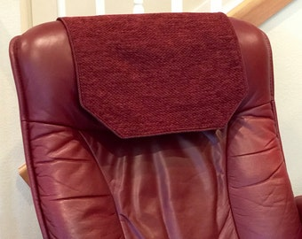 recliner chair headrest cover striped brown by chairflair