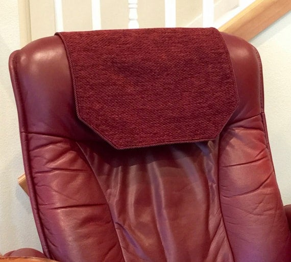 Items Similar To Recliner Chair Headrest Cover Burgundy