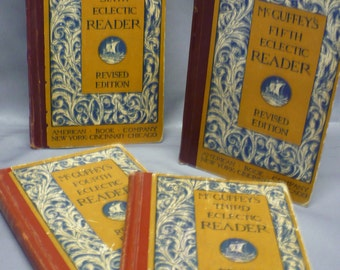 McGuffey's Eclectic Reader ... Set of 4 Books ... Third Reader, Fourth Reader,Fifth Reader and the Sixth Reader ... Copyright 1920