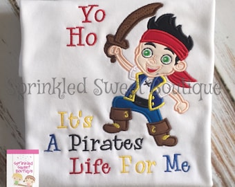 Mickey Mouse Ears Pirate Applique Custom Monogram Shirt Boys Girls Perfect for a Disney World Trip Vacation Disnwy Cruise Birthday