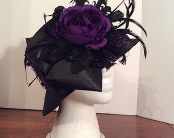 Black Kentucky Derby Hat Purple Kentucky Derby Hat