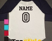 Set of 2 - Custom Sibling Raglan Shirts