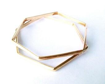 Hexagon Bangles