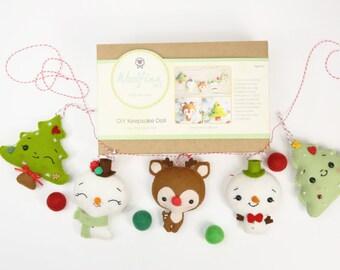CHRISTMAS GARLAND DIY Doll Kit // Wool Felt Doll Kit // Noialand Doll Kit // diy felt doll // Christmas Garland Kit // Christmas Ornament