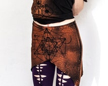 metatrons cube pointy pixie skirt