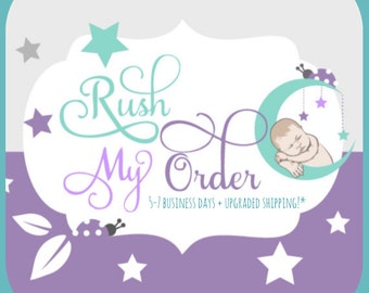 Rush Order- 5-7 Business Days- Priority 2-3 Day Shipping.