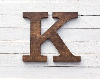 Wooden letters stained letters wall letters brown letters wood wall letter decorative letters wooden alphabet letter mantle decor letter