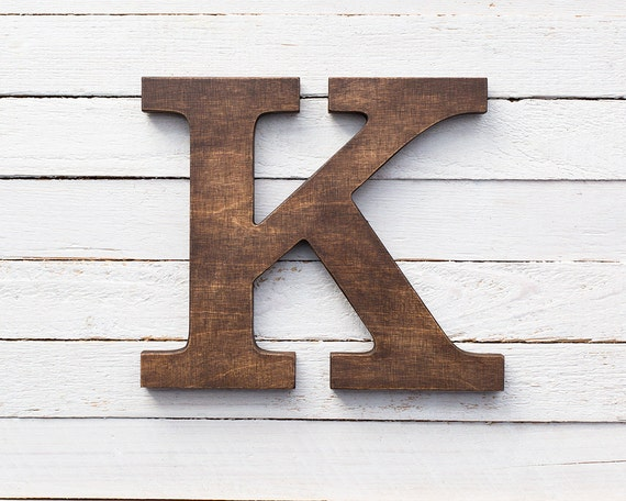 Wooden Letters Stained Letters Wall Letters Brown Letters Wood
