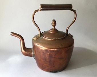Antique Copper Kettle, Stove Top kettle. Copper and Brass Kettle, Vintage Serving, Kitchen Decor,Tea Kettle, Vintage Copper