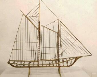 RARE Curtis Jere Skeleton Ship Signed C. Jere Boat