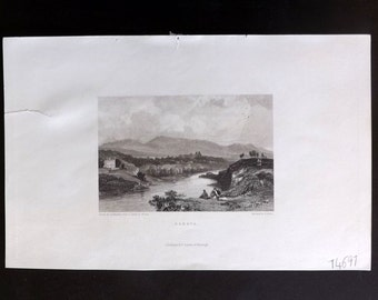 Finden C1835 Antique Print. Geneva, Switzerland