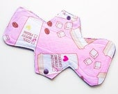 "My Coffee - 11"" Contoured Cloth Menstrual Pad - Heavy Overnight Postpartum"