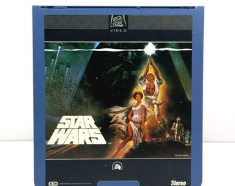 Star Wars SelectaVision VideoDisc CED / Vintage Movie Art / Movie poster / 20th Century Fox