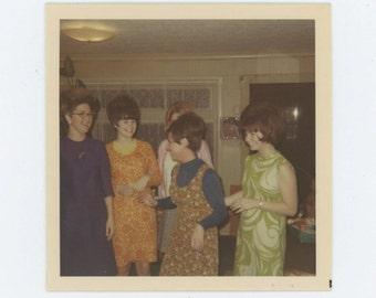 Mod Girls, Alhambra, CA 1968 Vintage Snapshot Photo (66473)