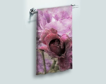 Small Face Cloth Face Towel Dusty Pink Rose