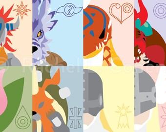 Digimon Digital Monsters Adventure Ultimates Print of Original Illustration 12x18