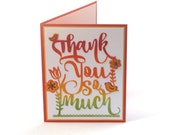 Thank you card, Thanks so much blank card, Autumn colors, gratitude, Fall