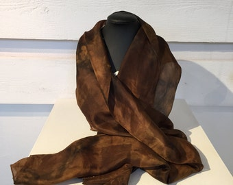 6. Eco printed scarf