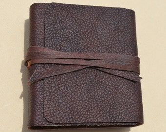 Handmade Bound Leather Pocket Journal Brown Diary Art Notebook (560B)