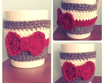 Red Bow Mug Cozie