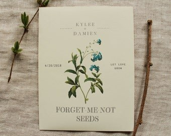 Forget-Me-Not Seed Envelope Favor Seed Packet