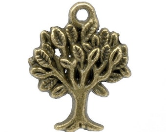 5 pieces Antique Bronze Tree Charms