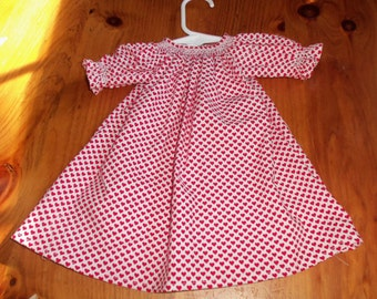 """Smocked Doll Dress   American Girl or any 16-18"""" doll"""