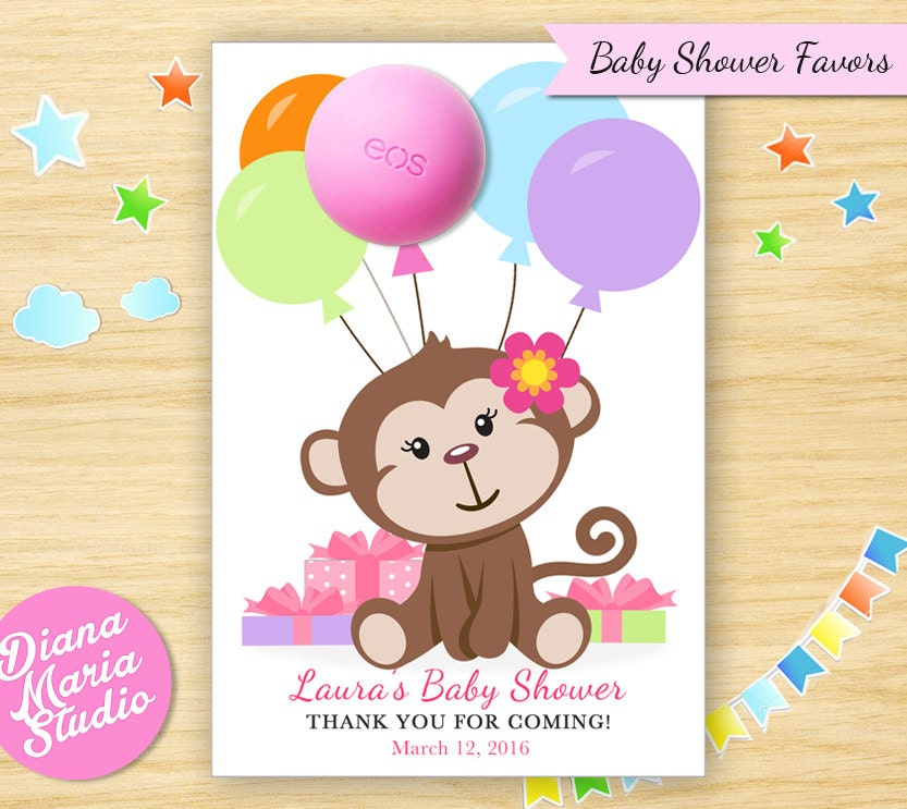 monkey baby shower favors eos lip balm monkey baby shower