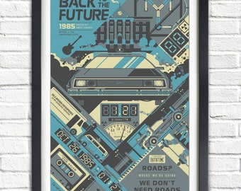 Back to the Future - 1985 - 19x13 Poster