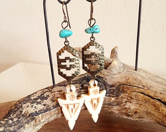 Desert Wanderer Earrings Boho Southwest Jewelry