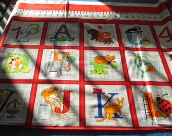 Quilting Weight Cotton Fabric Fun with ABCs designed by Sarah Frederking for Sudio e 1 panel