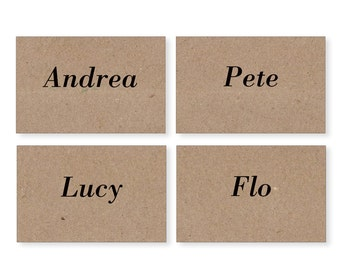 Eco Wedding Place Cards, Name Cards,Rustic Table Numbers, Eco-Friendly Wedding Stationery