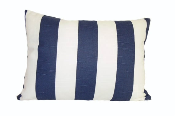 pillow euro sham cover navy white pillow by idecoratewithpillows. Black Bedroom Furniture Sets. Home Design Ideas