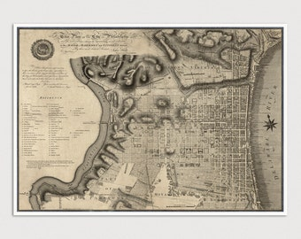 Old Philadelphia Map Art Print 1797 Antique Map Archival Reproduction