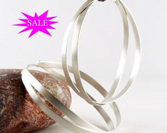 Hoop Earrings, large hoops earrings, sterling silver earrings hoops, long earrings, large earrings, minimal earrings, SALES 15% OFF