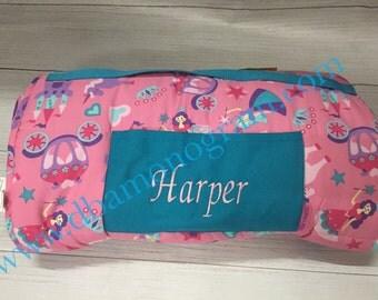 Monogram Nap Mat- Girl's Pre-School Nap Mat- Daycare Nap Mat- Stephen Joseph -PRINCESS Nap Mat
