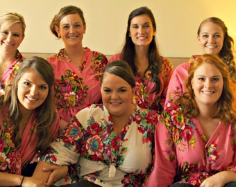 XXXL Robes, plus size robes, bridal party robes, wedding floral robe.