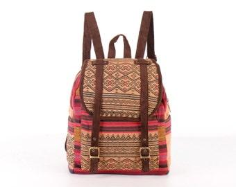 Small Ethnic Backpack Naga Tribal Hand Woven Asian Traditional Native Handmade