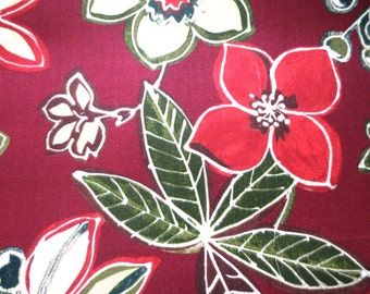 OUTDOOR Pillow Cover / Cranberry Floral Print / Red Pillow Cover / Pillow Cover
