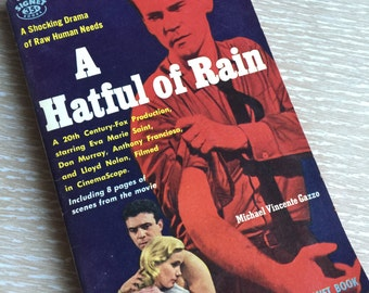 A Hatful of Rain ~ Vintage 1950s Pulp Fiction Paperback Book
