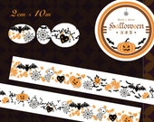 1 Roll of Limited Edition Washi Tape: Halloween