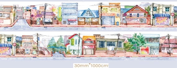 1 Roll Limited Edition Washi Tape: Street View