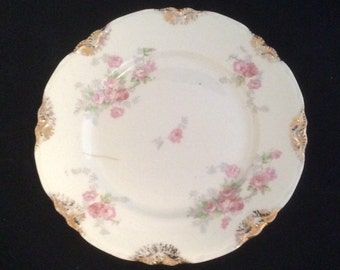Warwick China Abbey Rose Bread and Butter Plate