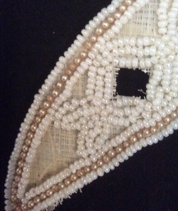 Vintage beaded wedding dress trim from thequeensattic on for Wedding dress trim beading