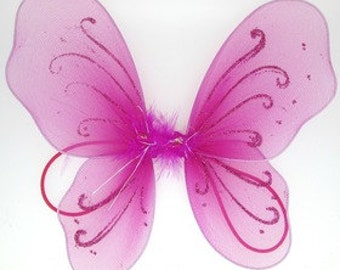 Hot Pink Baby Butterfly Wings