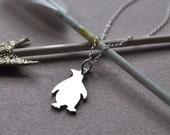 Silver Penguin Pendant