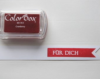 ♥♥ Red - Cranberry pigment color stamp pads
